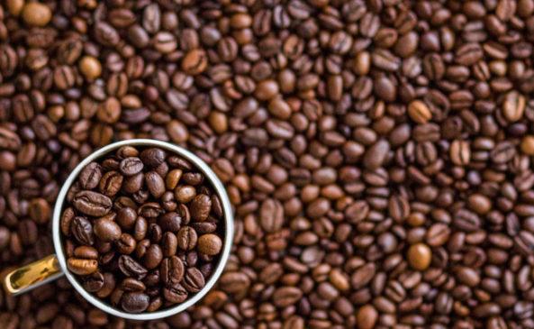 Кофейные зёрна в скрабе