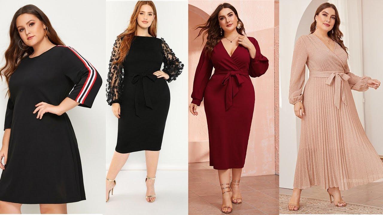 Нарядные платья для полных модниц